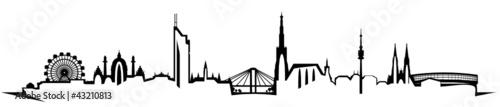 Wien Skyline abstrakt