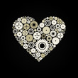 Heart a gear wheel