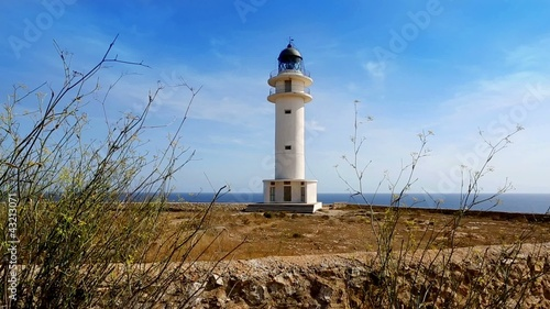 Barbaria cape Formentera lighthousein mediterranean sea