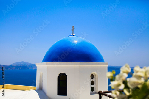 View at church in Oia, Santorini