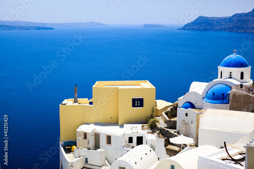 Traditional sea view at Santorini