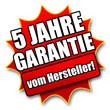 """Siegel """"5 Jahre Garantie vom Hersteller!"""""""