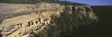 Panoramic view of Cliff Palace cliff dwelling Indian ruin, the largest in North America, Mesa Verde National Park, Southwestern Colorado
