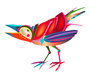 fun colorful bird