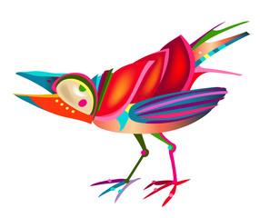 fun colorful bird
