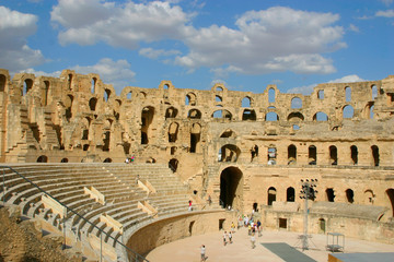 Roman amphitheater of El-Jam, colosseum