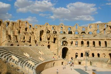 Roman amphitheater of El-Jam, colosseum