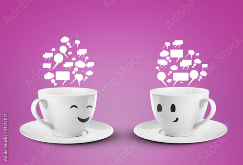 two happy smileys cups