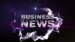BUSINESS NEWS Text in Particle (Double Version) Blue - HD1080