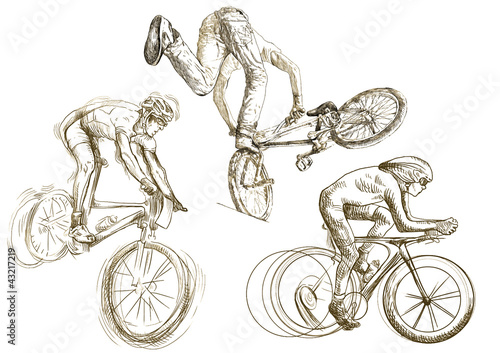bicycle sport (hand drawing little collection of sketches)