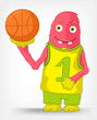 Funny Monster. Basketball.