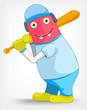 Funny Monster. Baseball.