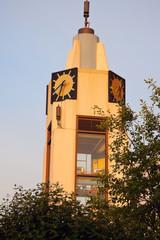 Clock tower in Lansing