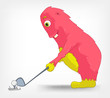 Funny Monster. Golf.