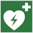 Rettungszeichen - Defribrillator