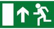 Rettungszeichen - Notausgang oben