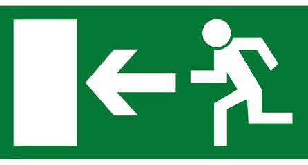 Rettungszeichen - Notausgang links