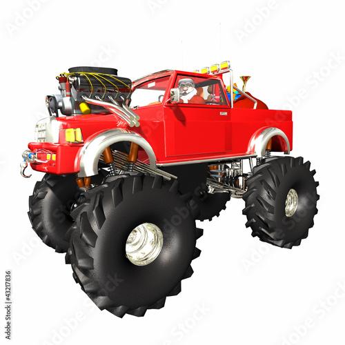 Fototapeten,weihnachtsmann,lastkraftwagen,monster,huge