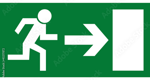 Rettungszeichen - Notausgang rechts