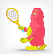 Funny Monster. Tennis.