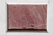 antique red marble slab framed with white marble,Florence, Tusca