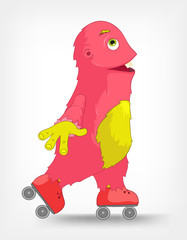 Funny Monster. Roller.