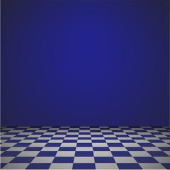 Empty room blue