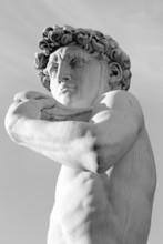 Słynnej rzeźby renesansu Dawida Michała Anioła, Florencja,