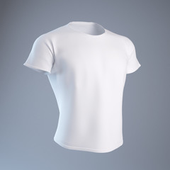 Blank White Men's T-shirt design template