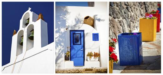 Collage of Santorini photos