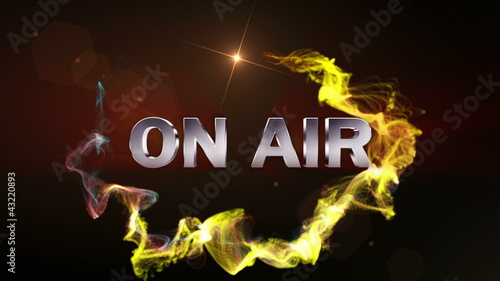 On Air Text in Particle Red (2 Variations) - HD1080