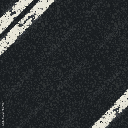 Fragment of asphalt road. Vector, EPS10