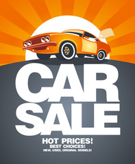 Car sale design template.