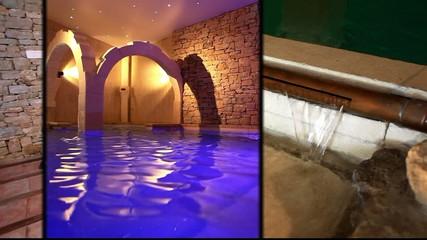 la maison avec bain romain