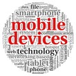 Mobile devices concept in tag cloud