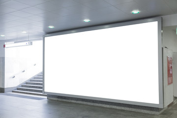 Blank billboard in  hall