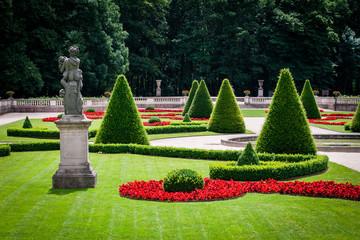 Statue in a beautiful park