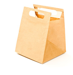 Paper brown lunch bag