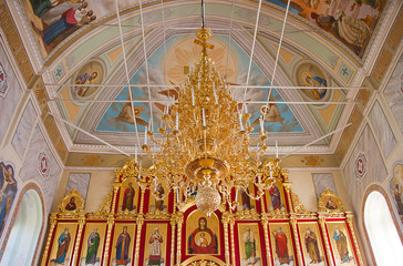 interior of the Orthodox temple, city Suzdal, Russia
