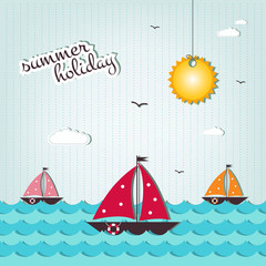 cartoon summer holiday background