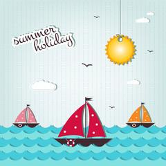 cartoon summer holiday background