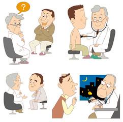 問診、診療風景