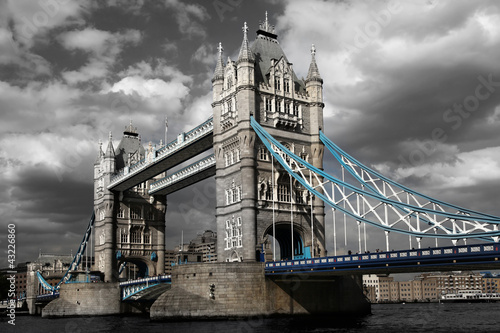 Famous Tower Bridge in London, England - 43226860