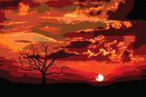 Fototapeta tło - transparent - Dziki pejzaż