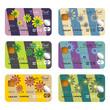 Floral credit cards