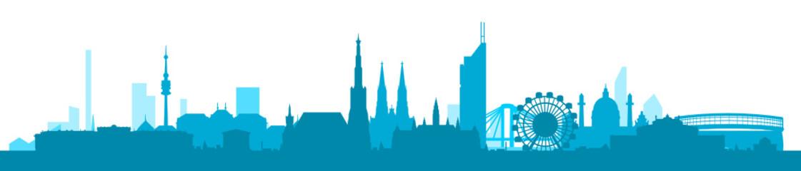 Wien Skyline blau