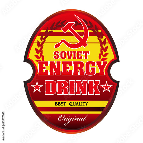 Soviet energy drink label