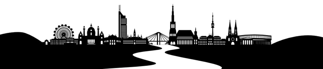 Wien Skyline mit Donau