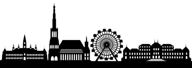 Wien Skyline Wahrzeichen