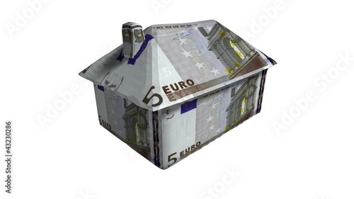 House made of euro notes.